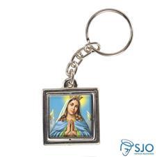 Chaveiro Quadrado Giratório de Nossa Senhora da Guia