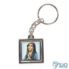 Imagem - Chaveiro Quadrado Giratório de Nossa Senhora das Dores cód: 18170800
