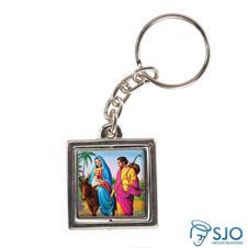 Imagem - Chaveiro Quadrado Giratório de Nossa Senhora do Desterro cód: 11356254