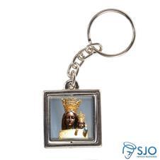 Imagem - Chaveiro Quadrado Giratório de Nossa Senhora do Loreto cód: 14482262