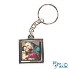 Chaveiro Quadrado Giratório de Nossa Senhora da Piedade - Modelo 2