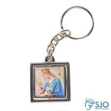 Imagem - Chaveiro Quadrado Giratório de Nossa Senhora do Rosário - Modelo 2 cód: 15731219