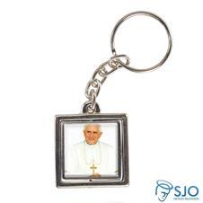 Imagem - Chaveiro Quadrado Giratório do Papa Bento XVI cód: 17718710