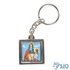 Imagem - Chaveiro Quadrado Giratório Nossa Senhora Santana cód: 16999084