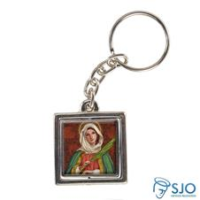 Imagem - Chaveiro Quadrado Giratório de Santa Apolônia cód: 12465810