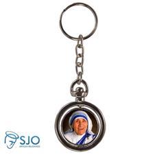 Imagem - Chaveiro Redondo Giratório - Santa Madre Teresa de Calcutá cód: 19561143