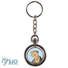 Imagem - Chaveiro Redondo Giratório - Nossa Senhora de Salete cód: 16378944