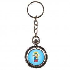 Imagem - Chaveiro Redondo Giratório Nossa Senhora do Perpétuo Socorro Infantil cód: CRGNSPSI