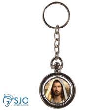 Imagem - Chaveiro Redondo Giratório - Rosto de Jesus cód: 12511552