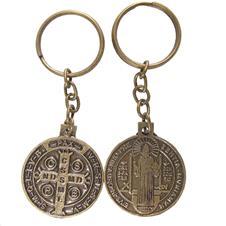 Imagem - Chaveiro São Bento de Bronze - Modelo 02 - 14842355