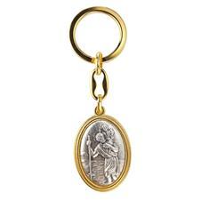 Chaveiro São Cristóvão Italiano Dourado