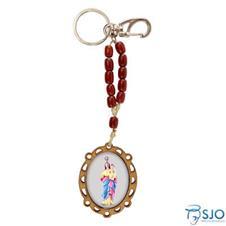 Imagem - Chaveiro de Madeira Nossa Senhora da Abadia cód: 16955265-24