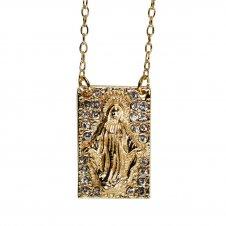 Imagem - Colar Nossa Senhora das Graças com Strass cód: 15330915-19