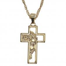 Imagem - Colar de Crucifixo com Face de Cristo cód: 11798143