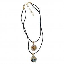 Imagem - Colar Duplo Medalha Milagrosa e Nossa Senhora das Graças Resinado cód: GE-01-GR