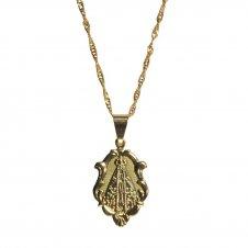 Imagem - Colar Medalha de Nossa Senhora Aparecida Grande Folheado cód: 18132312-19