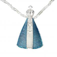 Imagem - Colar Nossa Senhora Aparecida Matizado Azul - 10224346-8