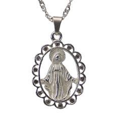 Imagem - Colar Nossa Senhora das Graças Folheado - 10204424-8