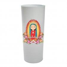 Imagem - Ref: CLDNSGI2B | Copo Long Drink Nossa Senhora de Guadalupe Infantil | Cor: Branco cód: CLDNSGI2B
