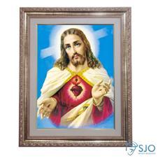 Imagem - Quadro - Sagrado Coração de Jesus - Modelo 2 - 52 cm x 42 cm - 19426067