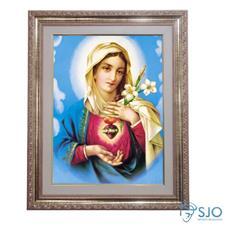 Quadro - Sagrado Coração de Maria - Modelo 2 - 52 cm x 42 cm
