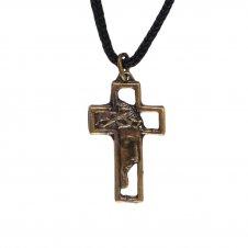 Imagem - Cordão com Crucifixo de Bronze Face de Cristo - Mod. 2 cód: 10618391