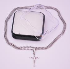 Imagem - Cruz de Inox Pequeno com Cristo - 30 cm - 10622278