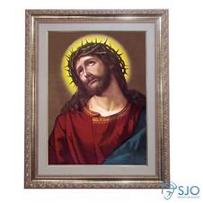 Quadro - Jesus com Coroa de Espinhos- 52 cm x 42 cm