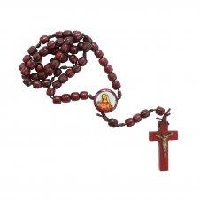 Imagem - Terço de Madeira Sagrado Coração de Maria cód: F1301243