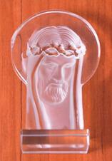 Imagem - Face de Cristo de Cristal - 7 cm cód: NTF18579583