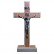 Imagem - Crucifixo de Madeira - Medalha de São Bento - 10 x 6 cód: 11711302-11