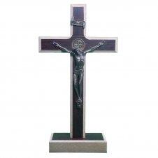 Imagem - Crucifixo de Madeira - Medalha de São Bento - 10 x 6 cód: 11711302-43