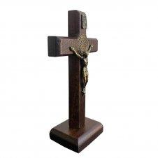 Imagem - Crucifixo de Madeira - Medalha de São Bento - 9 x 6 cód: CÓD2531