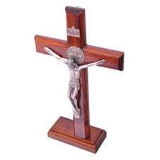Crucifixo de São Bento para Parede/mesa - 26 cm