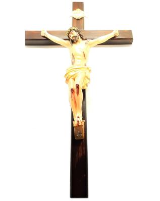 Imagem - Crucifixo de Parede c/ Cristo em Resina 50 cm cód: 3200
