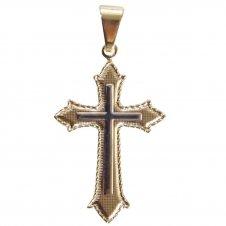 Imagem - Crucifixo Folheado com Detalhe Prata cód: 14245263