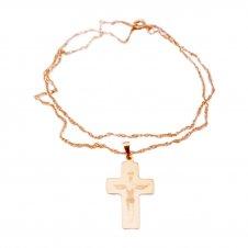Imagem - Cruz Folheada a Ouro Grande com o Cristo cód: 19455213