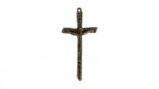 Imagem - Cruz de Metal Jesus Fina Extra Grande cód: 97332336S