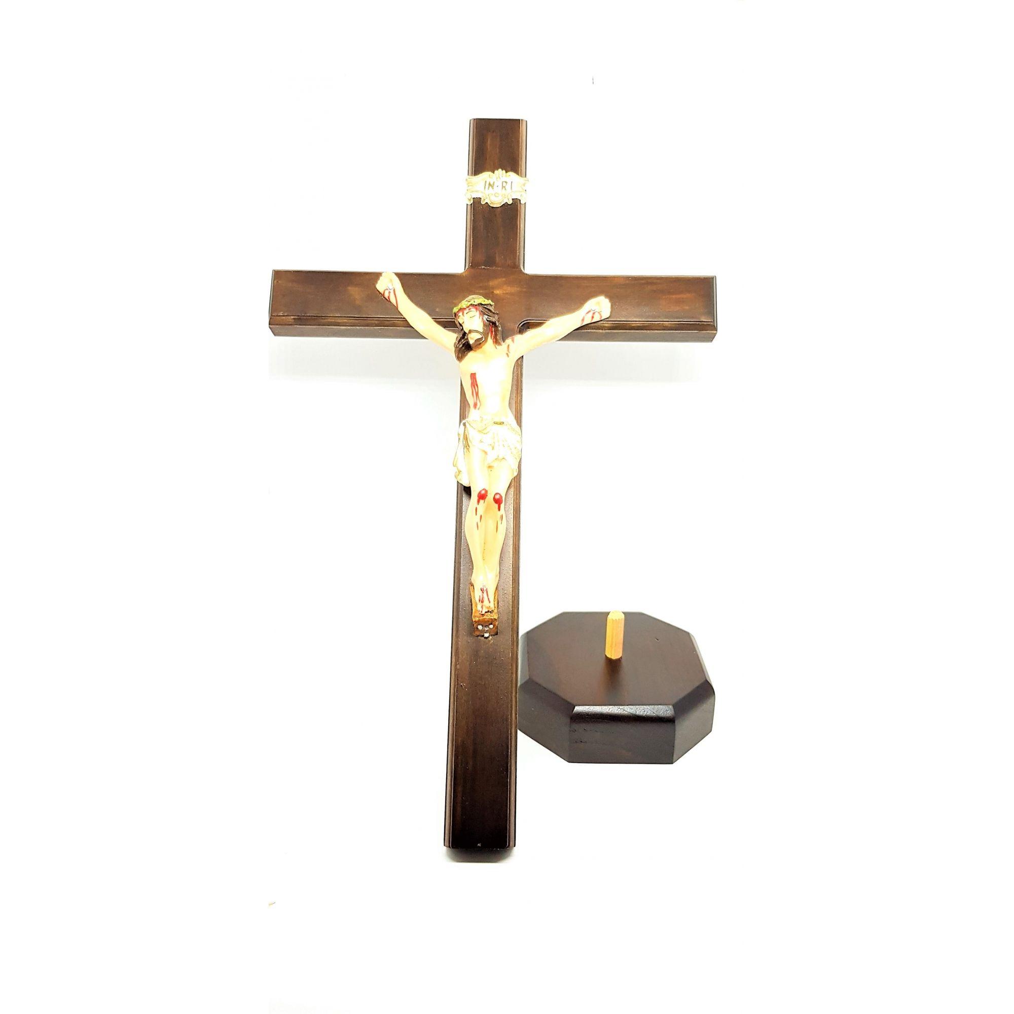 Imagem - Crucifixo de Mesa 40 cm cód: 3216