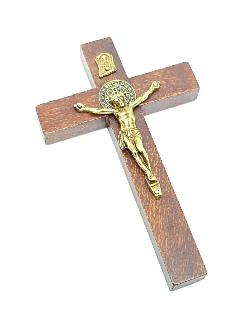 Imagem - Crucifixo Rústico de Porta São Bento 12 cm cód: 2603