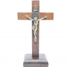 Imagem - Crucifixo Rústico de Mesa São Bento 12 cm cód: 2701
