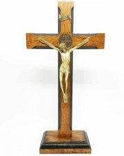 Imagem - Crucifixo de Mesa São Bento Luxo 23 cm cód: 6868