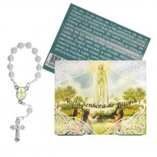 Imagem - Cartão com Mini Terço de Nossa Senhora de Fátima - 15898816
