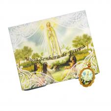 Imagem - Cartão com Medalha de Nossa Senhora de Fátima cód: 13236093