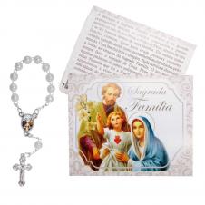 Imagem - Cartão com Mini Terço da Sagrada Família - 11819018