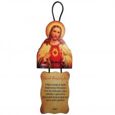 Imagem - Adorno de Porta Sagrado Coração de Jesus cód: 17328791