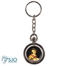Chaveiro Redondo Giratório - Nossa Senhora da Divina Providência - Modelo 1