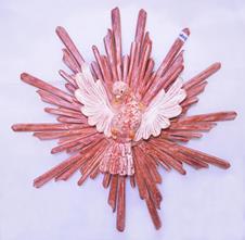 Divino Espírito Santo Raio Duplo - 65 cm