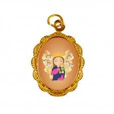 Imagem - Medalha de Alumínio Nossa Senhora Auxiliadora Infantil cód: MANSAI2D