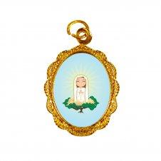 Imagem - Medalha de Alumínio Nossa Senhora de Fátima Infantil cód: MANSFID